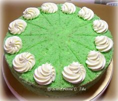 Heart of Mary: Filipino Coconut (Buko) Pandan Chiffon Cake