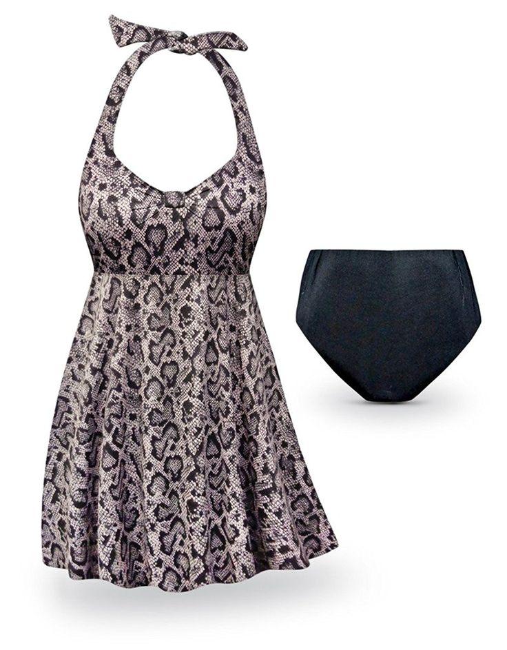 e8c44a6ba20 Zeraca Tie Side Bottom Halter Bandeau Bikini Bathing Suits    Unbelievable  item right here!   Plus size swimwear