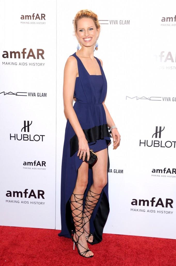 Karolina Kurkova in Vionnet — amfAR New York Gala 2012