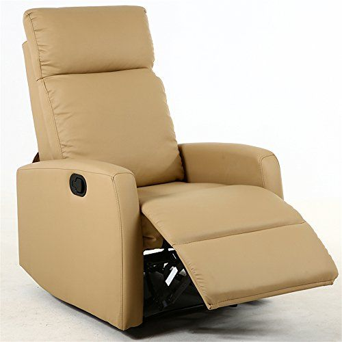 Dland Home Theater Seating Recliner Chair Compact Manual Leather Reclining Sofa Living Room Chairs, Light Brown 8031 #Dland #Home #Theater #Seating #Recliner #Chair #Compact #Manual #Leather #Reclining #Sofa #Living #Room #Chairs, #Light #Brown