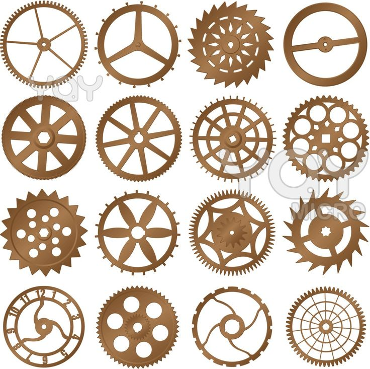 clock gears | tattoo | Pinterest | Shape, Gears and Colors
