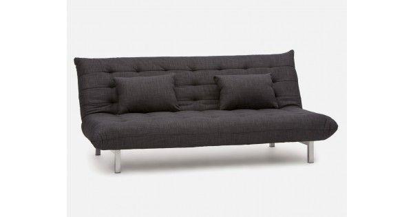 Dark grey sofa-bed