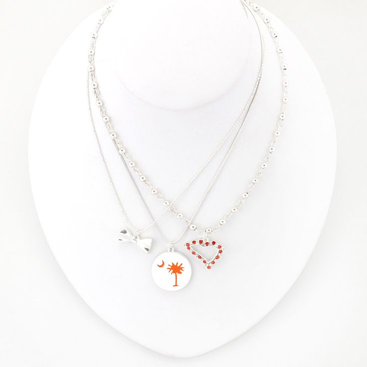 23 best go tigers clemson jewelry by seasons images on pinterest clemson traditions trio necklace mozeypictures Image collections