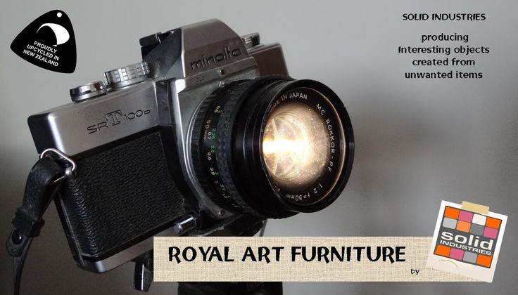 Sweet photograph camer feature light. Solid Industries, royal art furniture, upcycle