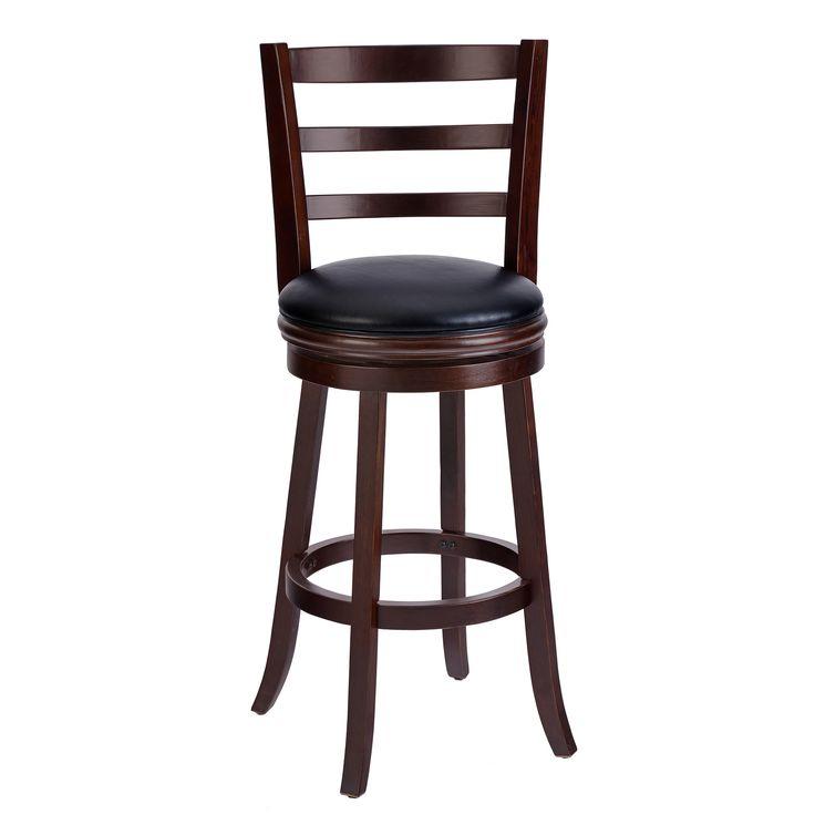 Techni Mobili Wood Bar stool Have Padded Swivel Seat