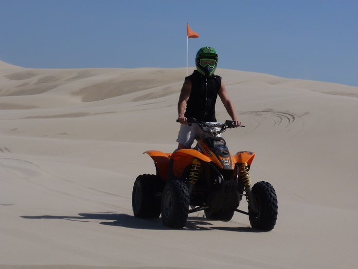 ATVing in Oregon Dunes NRA...the scenery was so awesome...it takes some guts to take on some of those dunes.  What a rush.