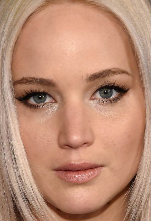 Close-up of Jennifer Lawrence at the 2016 premiere of 'A Beautiful Planet'. http://beautyeditor.ca/2016/04/25/best-beauty-looks-sienna-miller