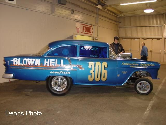 """Blown Hell"" '55 Chevy A/FX Altered Wheel race car ~ the ..."