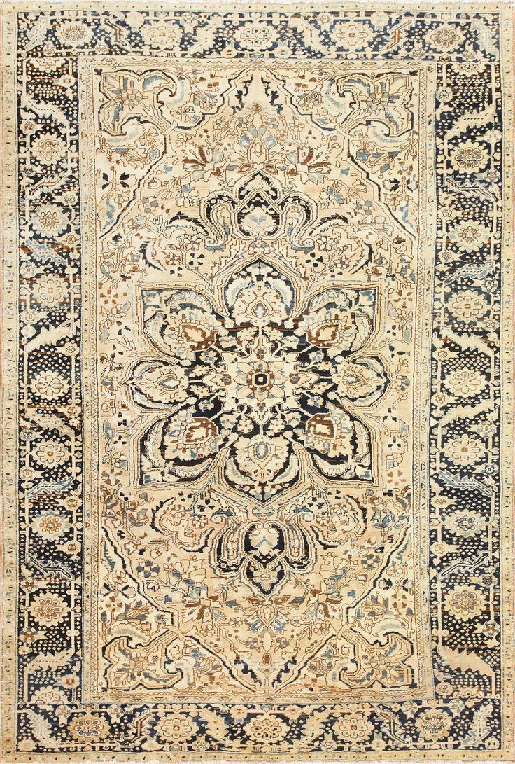Antique Room Size Persian Serapi Heriz Rug 48773