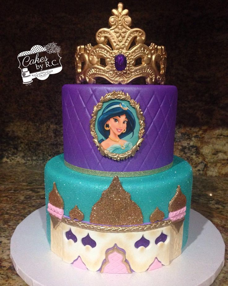 25 best ideas about princess jasmine cake on pinterest for Aladdin decoration ideas