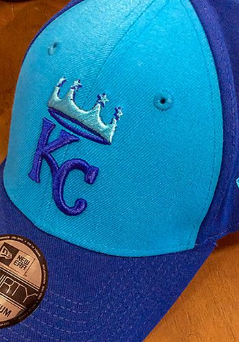 hot sale online 48d65 ea9ce Pull on this Kansas City Royals 18 Players Weekend 39THIRTY Blue Flex Hat  just in time