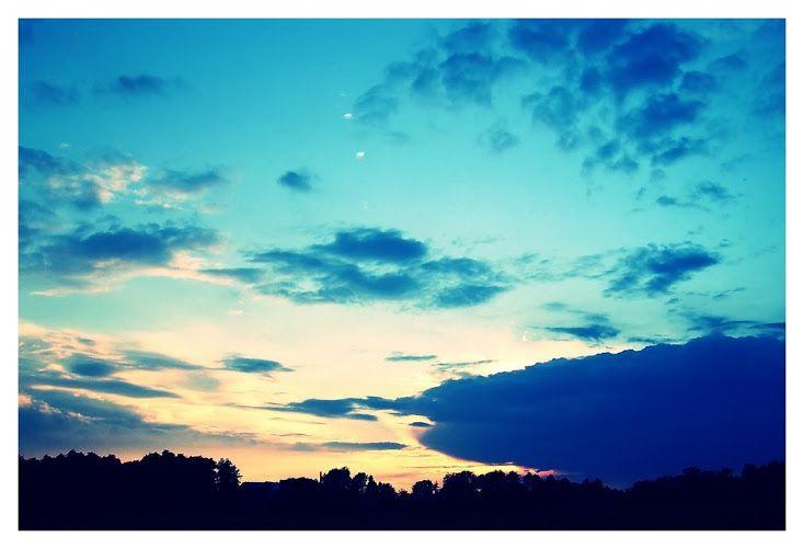 #sunset #blue #sky