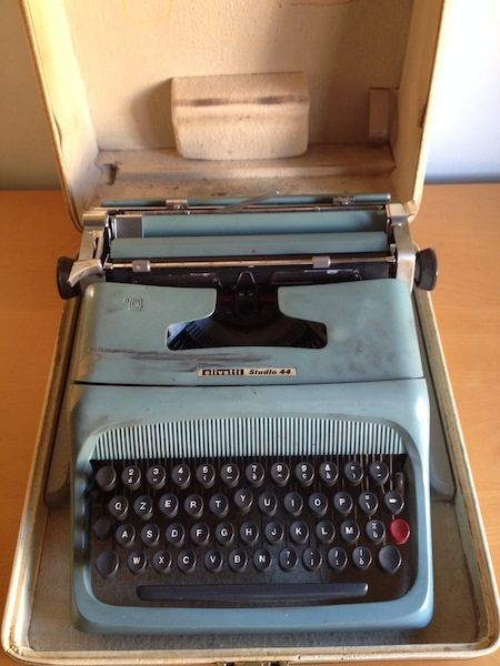 """""""Thanks to the science fiction stories written by my grandfather, I learned to write following an imaginary music"""" #olivetti, #stories, #typewriter, #writing #ttmproject"""