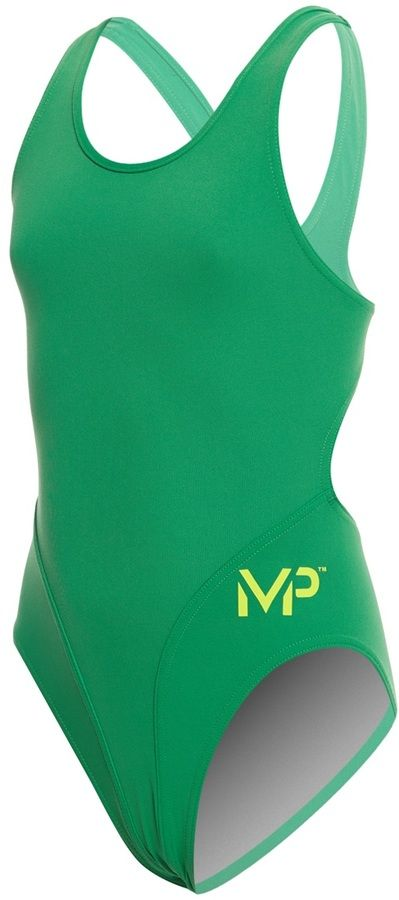 MP Michael Phelps Girls' Solid Comp Back One Piece Swimsuit 8159727