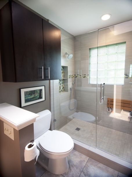 this recent small bathroom remodel located in central austin really packs a punch with personality