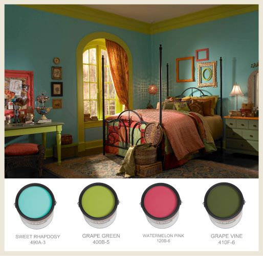 17+ Ideas About Pink Green Bedrooms On Pinterest