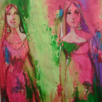 I bought two from this series by a wonderful Iraqi artist: Oriental Gallery, Wonderful Iraqi, Middle East
