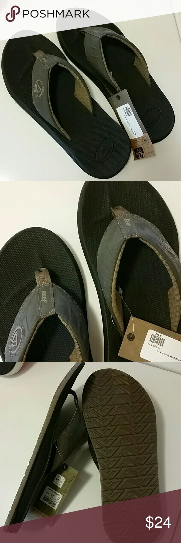 "NWT Men's Reef flip flops, Phantom, vintage brown New with tags  Men's Reef ""Phantoms"" ""Vintage Brown"" color Men's size 11 / EUR 44 Reef Shoes Sandals & Flip-Flops"