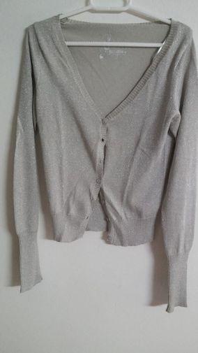 Chaqueta plateada - Chicfy / Silver cardigan