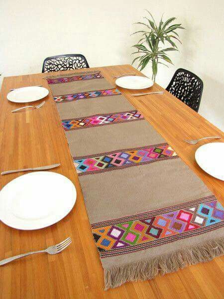 Fun DIY no sew table runner ma