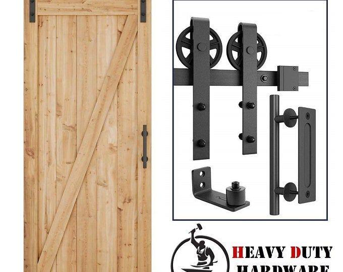 Diyhd 5ft 11ft Bypass Sliding Barn Wood Door Hardware Interior Etsy In 2020 Door Hardware Interior Sliding Barn Door Hardware Barn Door Hardware