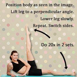 Exercise for love handles (exercise for waist/ejercicio para las caderas)