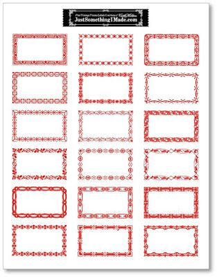 Free Red & White Printable Labels; on this site. Love the borders. (Printed on cardstock, great for Christmas gift tags!) :)