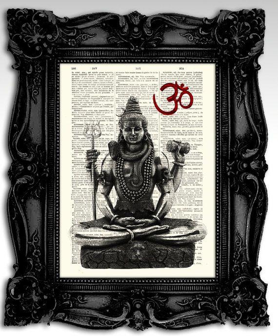 God Shiva  Original Hindu God artwork mixed by FashionArtStudio, $10.00