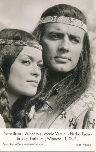 """Pierre Brice und Marie Versini, ein schönes Geschwisterpaar im Film """"Winnetou 1"""""""