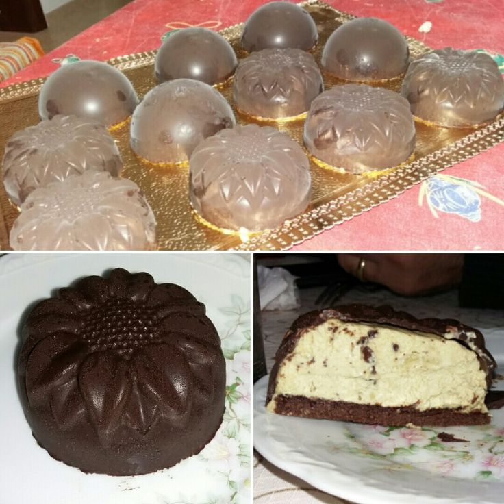 Pistachio bavaroise with chocolate