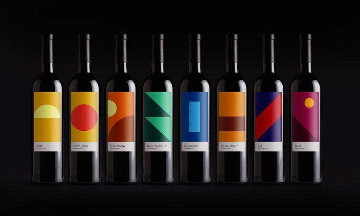 VK Wines by Size.agency #graphic #design #wine #packaging