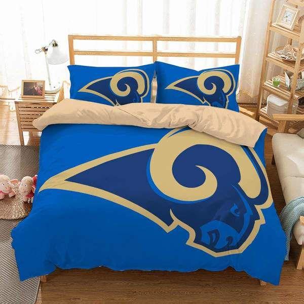 3d Customize Los Angeles Rams Bedding Set Duvet Cover Set Bedroom
