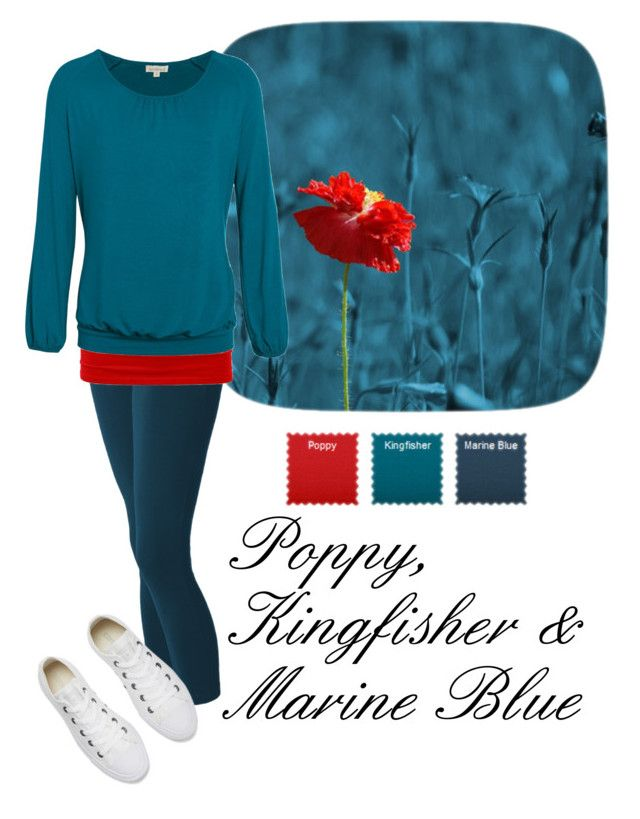 """""""Poppy, Kingfisher & Marine Blue"""" by styled-by-emma-anne ❤ liked on Polyvore featuring Converse, autumn and colouranalysis"""