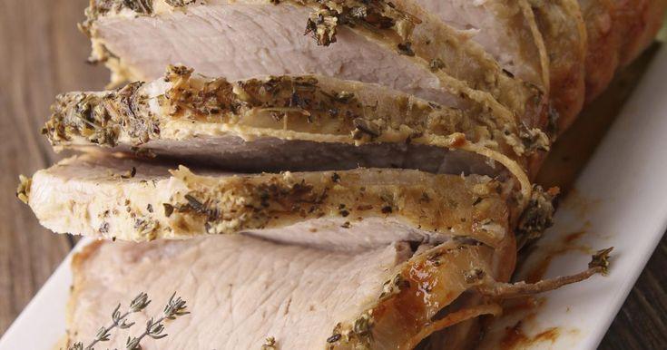 Recette - Roti de porc à la moutarde | 750g