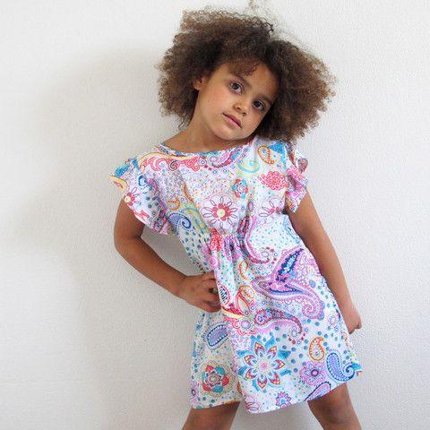 little girls heaven - Fitted Slip Dress Frill - paisley - FSDF1