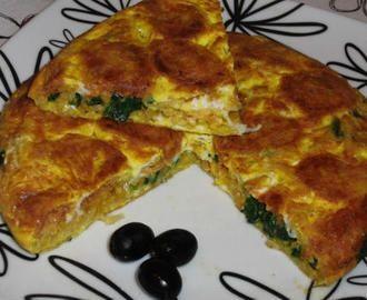 Tortilha de Alheira e Espinafres
