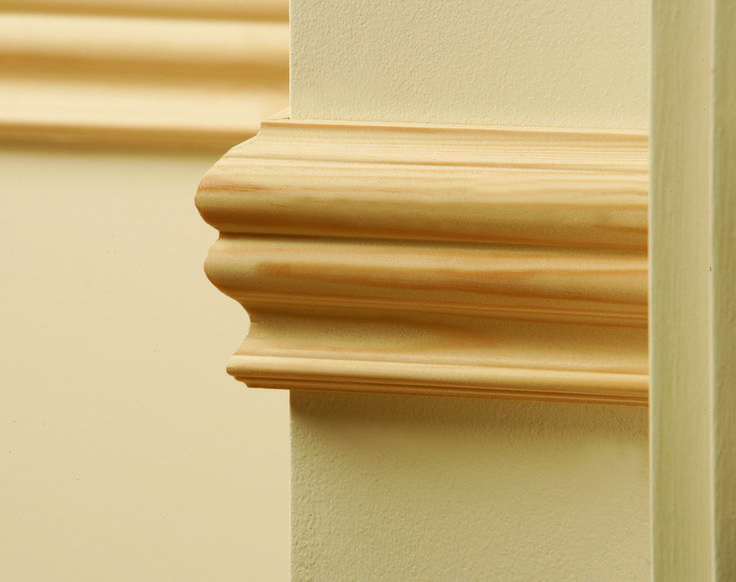 Timber dado / wooden dado rails / dado moldings create the finishing touch for period developments. Dado rails can painted white or stained.