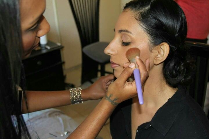 Hard at work.. love it! Make up artist # colour..