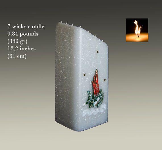Christmas gift Christmas candle handmade candle  by MonnaCandles