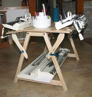 TOM MACHINE KNITTING GUY: Beautiful & Functional Hand Made Knitting Machine Tables