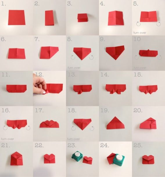 Marcapaginas En Forma De Corazon Con Origami Aprende Los Pasos Origami De Amor Manualidades Origami Diy