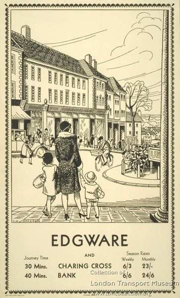 Edgware to Charing Cross and Bank