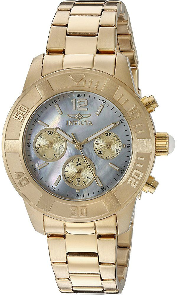 Invicta Women's 21612 Angel Analog Display Swiss Quartz Gold Watch Best Price