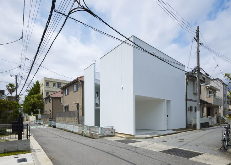 Japanese studio Alphaville's Slice of the City is a house cut into two uneven sections.