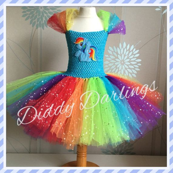 Vestido de arco iris brillante guión. Inspira por DiddyDarlings