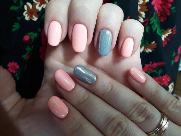 Semilac: 130 sleeping beauty, 105 stylish gray, indigo mermaid effect