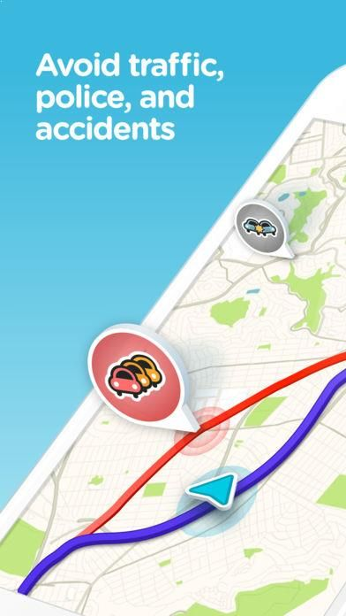 Avoid traffic jams, police traps, and accidents with Waze, the #1 real-time navigation app.