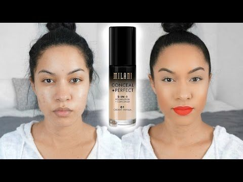 SWEAT PROOF Foundation?! Milani Conceal + Perfect | First Impression - YouTube