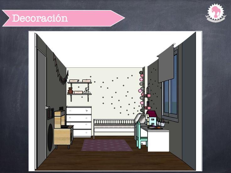 17 mejores ideas sobre decoraci n de dormitorio de color for Vinilos dormitorio nina