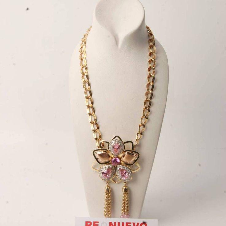 Collar de oro de segunda mano con pedrería E272722   Tienda online de segunda mano en Barcelona Re-Nuevo